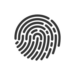 Circle icon fingerprint vector image
