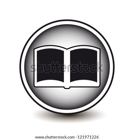 Circle icon modern book isolated on white background