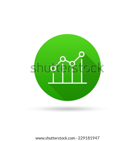 Circle icon on a white background characterizing growing trend. Vector illustration