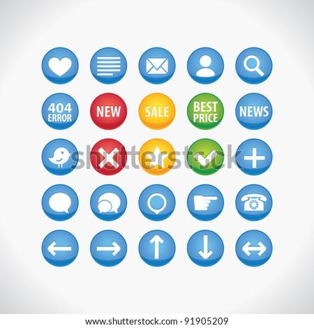 Circle icons set