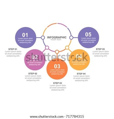 circle infographic five option