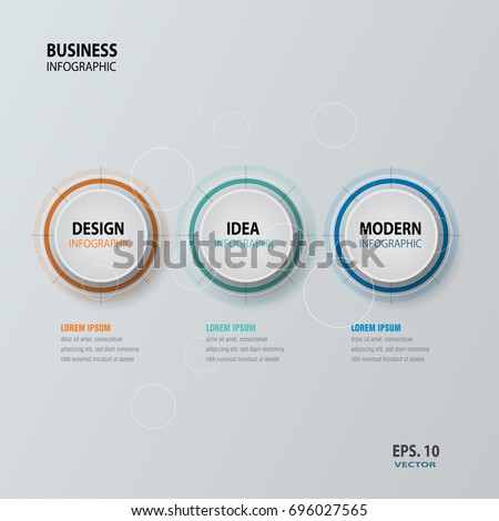 Circle infographic. Template for cycle diagram, graph, presentation and round chart. Business concept with options, parts, steps or processes. vector illustration.