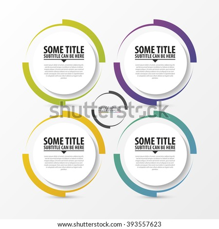 Circle infographic. Template for diagram. Vector illustration