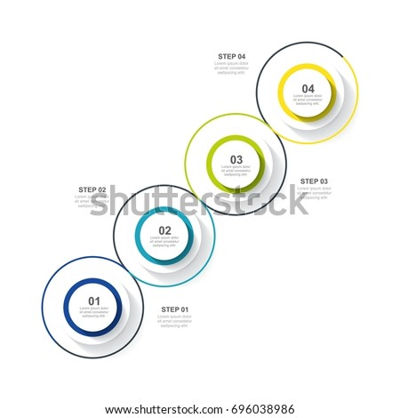 Circle infographic template four option, process or step for business #696038986