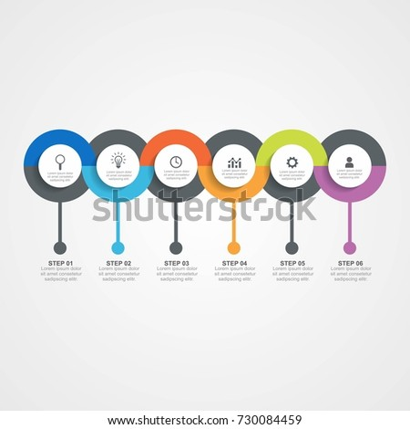 circle infographic template six
