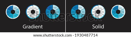 circle infographic Template Vector 1,2,3,4,5,6 portions  Photo stock ©