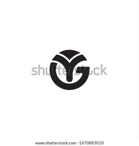 Circle Initials Monogram GY YG Logo Design Stock fotó ©