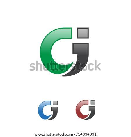 circle letter Ci logo Stock fotó ©