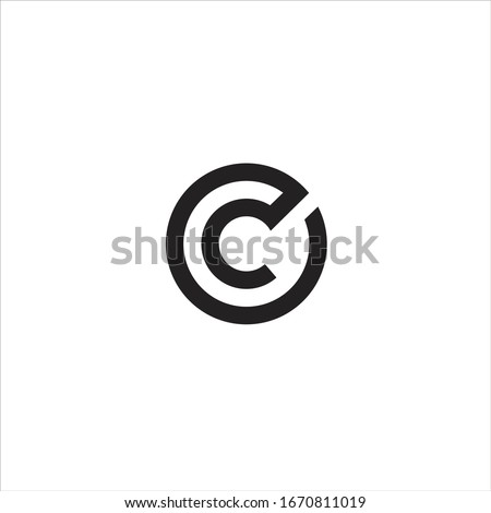 circle logo and letter c and o Foto stock ©