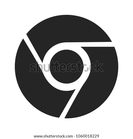 Circle logo icon vector, google chrome symbol. Browser pictogram, flat vector sign isolated on white background. Simple vector illustration for graphic and web design.