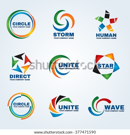 Circle logo vector art design for business