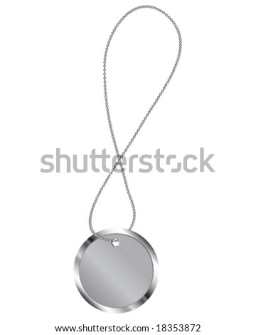 circle metal mark on chain