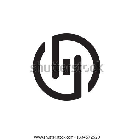 Circle MO logo Foto stock ©