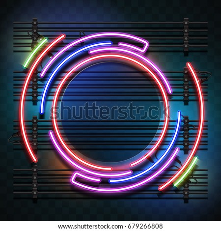 circle neon light