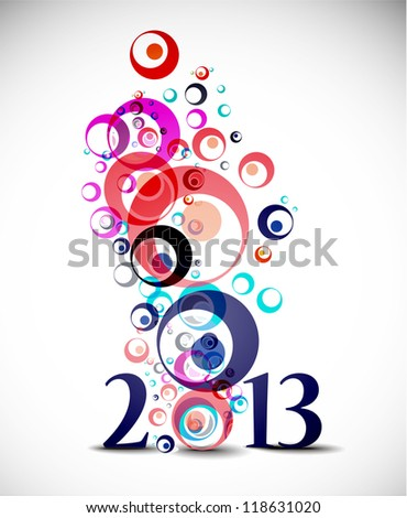 circle New year 2013 background.