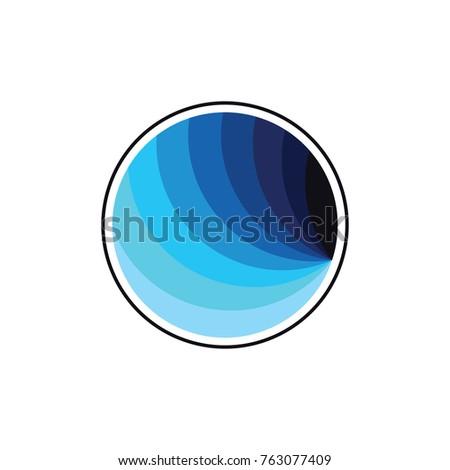 circle object blue gradation