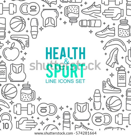 Circle of sports icons. Sport concept, background.
