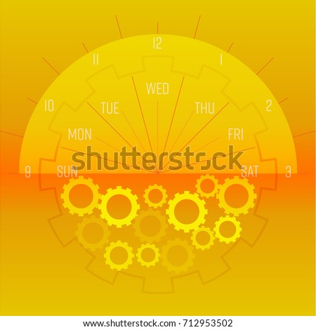 circle of time and mechanism on