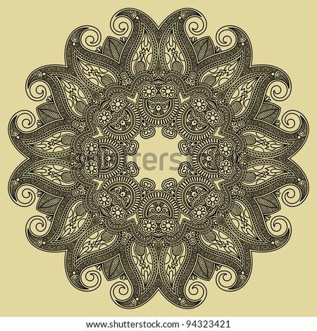 Circle ornament, ornamental round lace