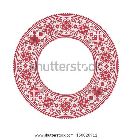 Славянские круглые узоры