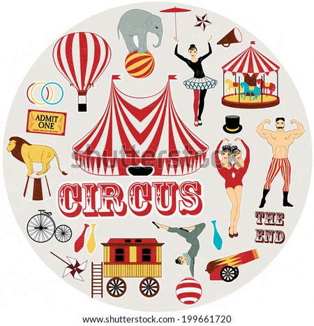 Circle pattern of the circus