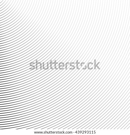 Circle pattern with dynamic, irregular lines. Geometric circular pattern with radiating, converging circles. stock photo