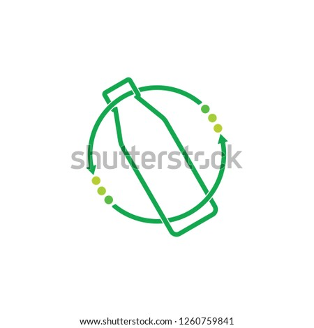 circle re use circle arrows bottle vector Foto stock ©