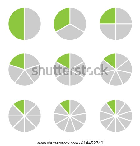 Circle segment set. Set of pie charts