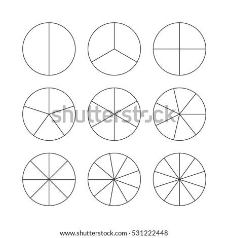 circle segments set various