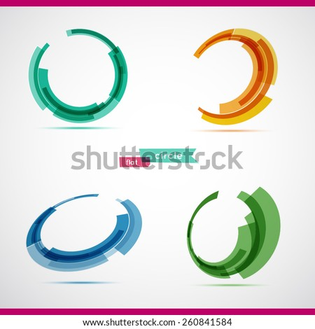 Circle set. Vector illustration. Business Abstract Circle icon. Corporate, Media, Technology styles vector logo design template.