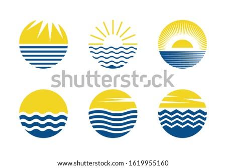 circle shape sun and water