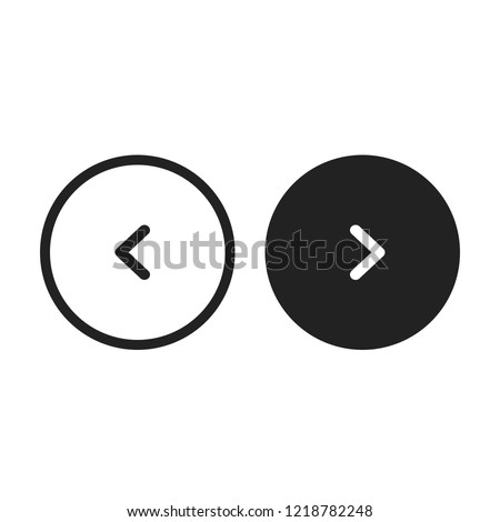 Circle Slider Buttons Arrows Vector Сток-фото ©