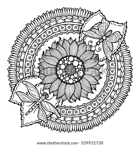 Number Names Worksheets pictures of flowers to trace : Colorful Circle Vector Art | Free Vector Graphics | All Free Web ...