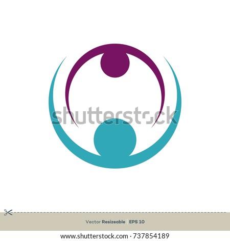 Circle Swoosh Vector Logo Template