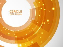 Circle tech background. Template design.
