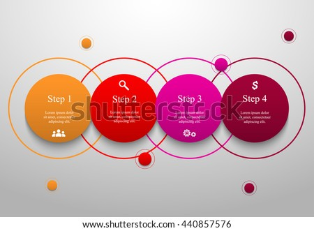 Four steps modern infographic design template download vetores e circle timeline template for diagram graph presentation and chart business concept with 4 ccuart Images