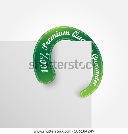 Circle vector green label - premium quality