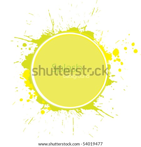 Circle with inky splashes - stock vector
