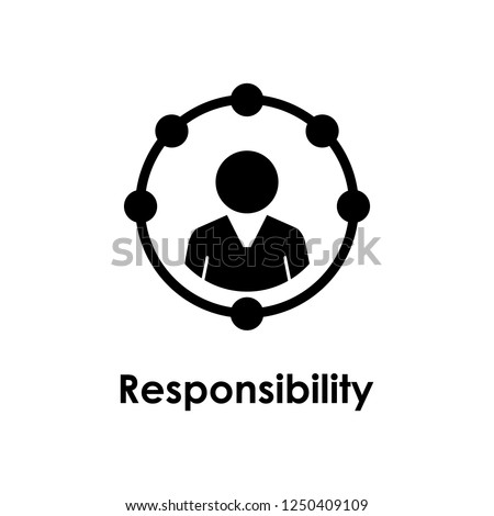 circle, worker, responsibility icon. One of the business collection icons for websites, web design, mobile app Foto d'archivio ©