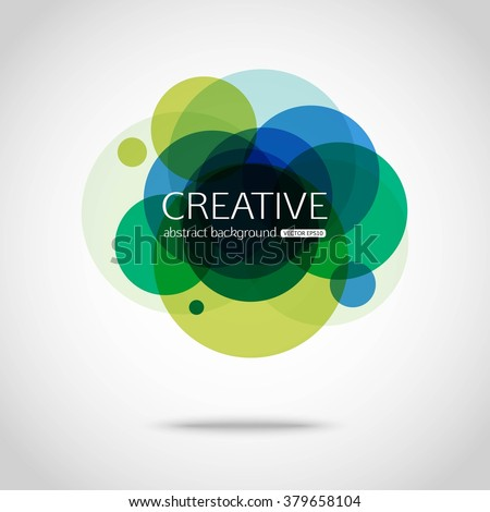 Circles abstract background. Vector illustration.