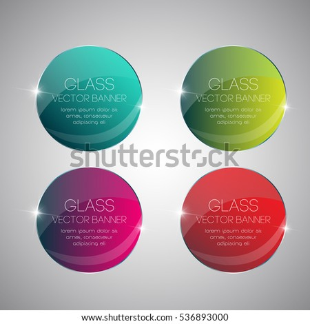 circles glass banners shine