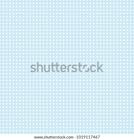 Circles seamless pattern on pastel blue background. vector illustration