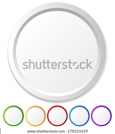 Circles, shapes with empty space for icons, logos, texts