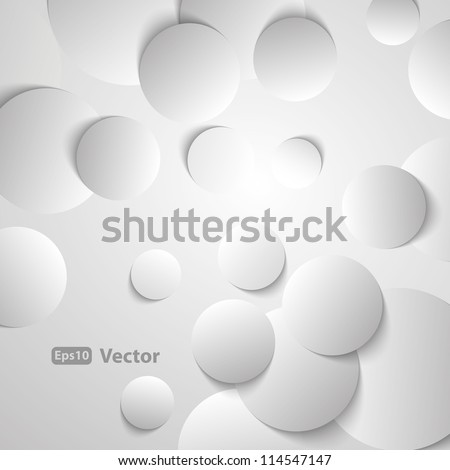 Circles with drop shadows - stock vector