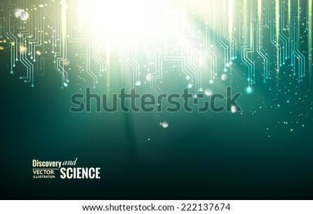 circuit blue lights background