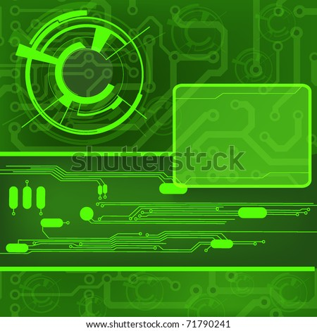 circuit board background. EPS10