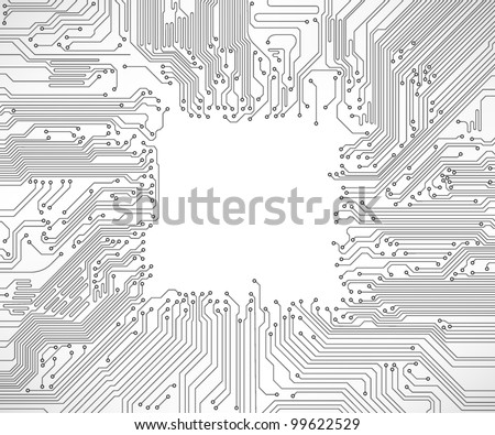 Free Circuit Vector Different Types Of Boards Isolated On A White Background Board