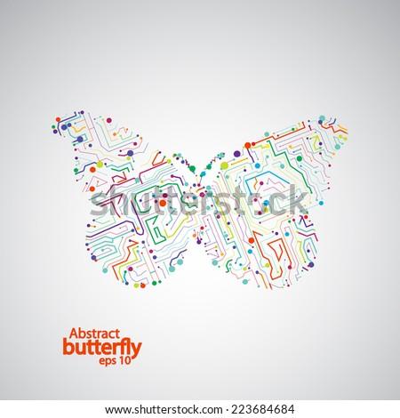 circuit board butterfly eps 10