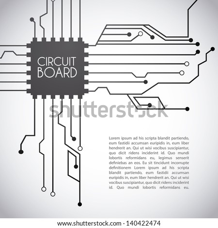 circuit board design over gray