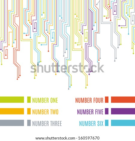 circuit board design vector